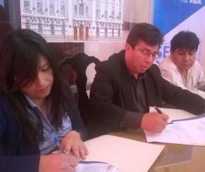 La Fundación firma el proyecto de Chuquisaca