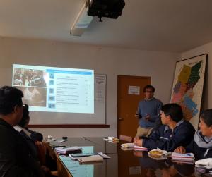 Presentación del proyecto de Ojos del Mundo en Perú