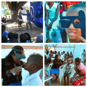 Representación visual en una escuela de Mozambique