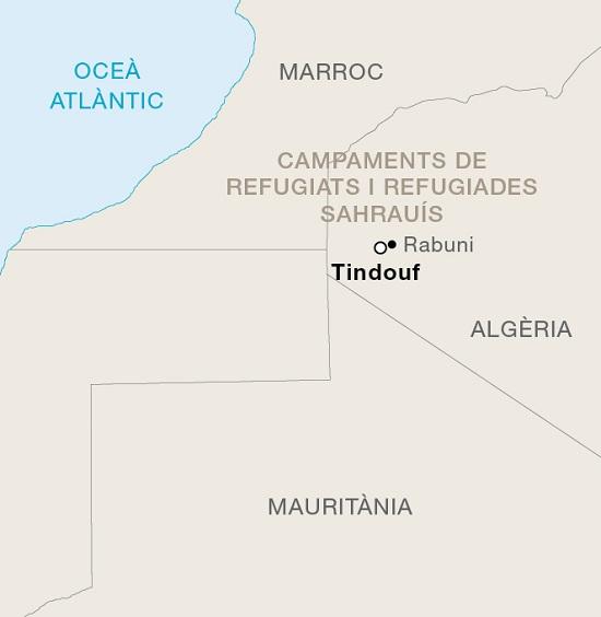 Mapa de campaments sahrauís