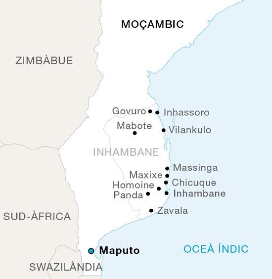 Mapa de Moçambic