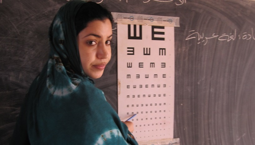 Education for eye health at school