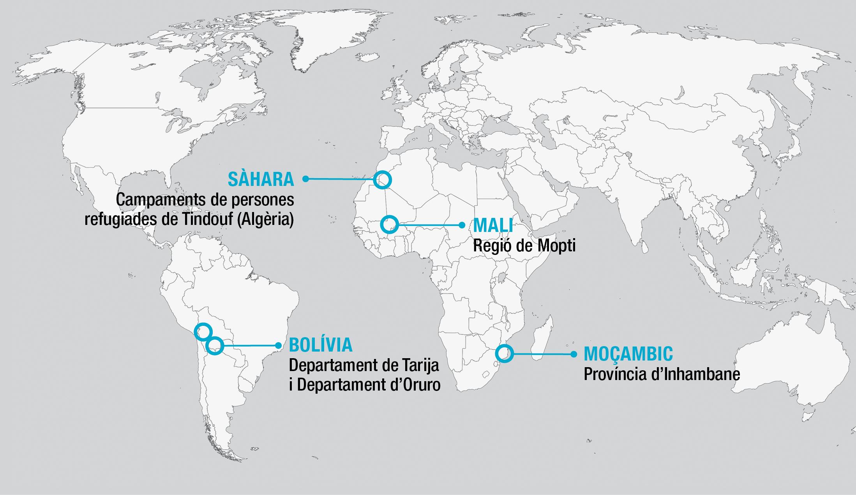 Àrees on coopera Ulls del món