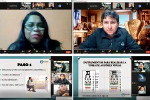 Videoconferència de capacitacó virtual