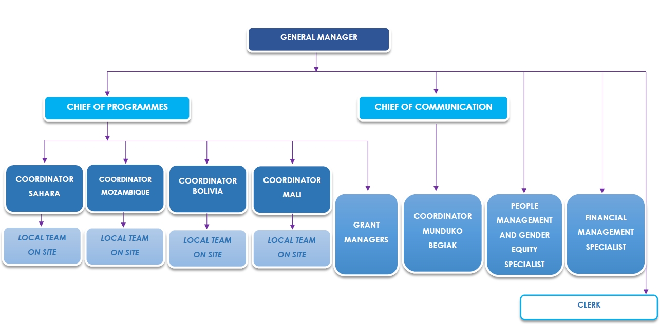 Eyes of the world organization chart