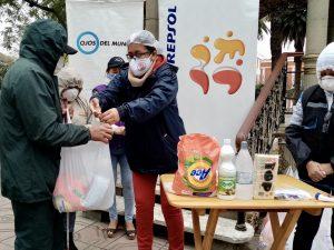 Donación de kits de prevención de covid-19