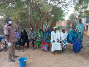 Group of people after receiving ophthalmic are in Mali